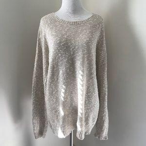 Harley of Scotland Linen Cotton Blend Sweater M